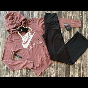 Nike Vintage Hoodie & Power High Waist Pants